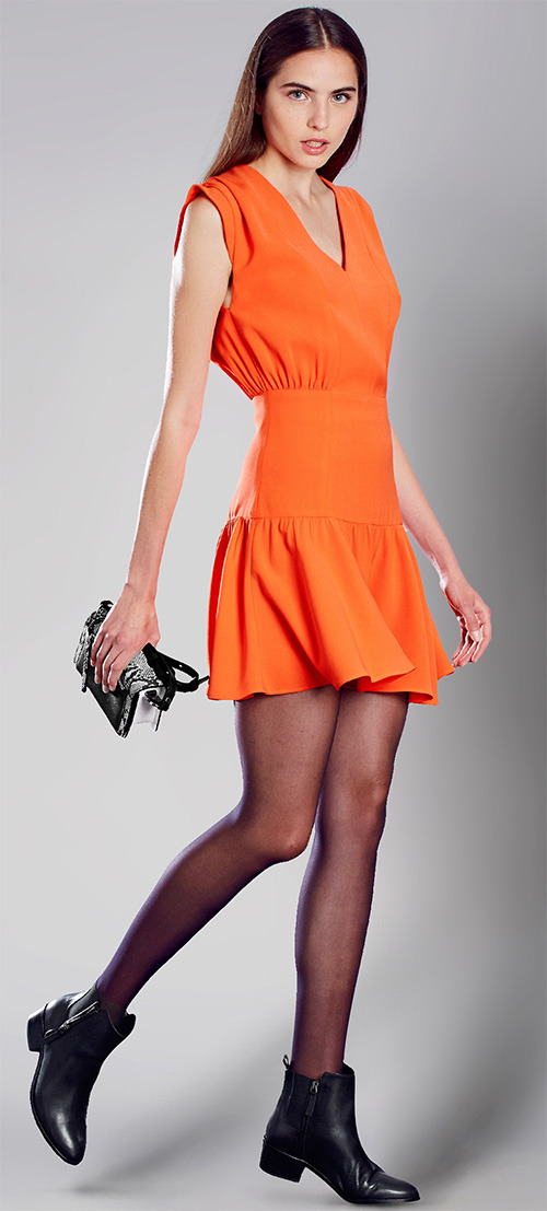Robe courte orange Zapa