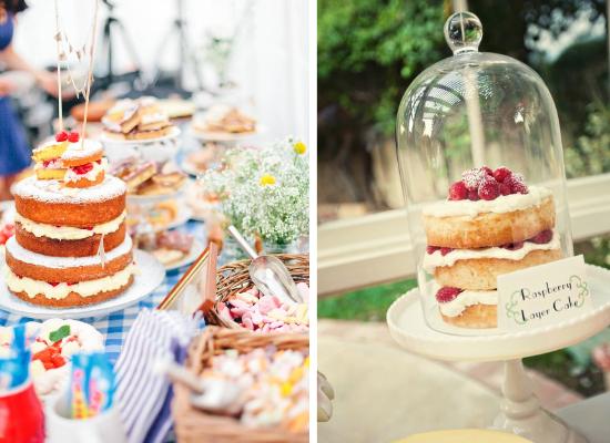 Victoria sponge cakes, wedding cakes