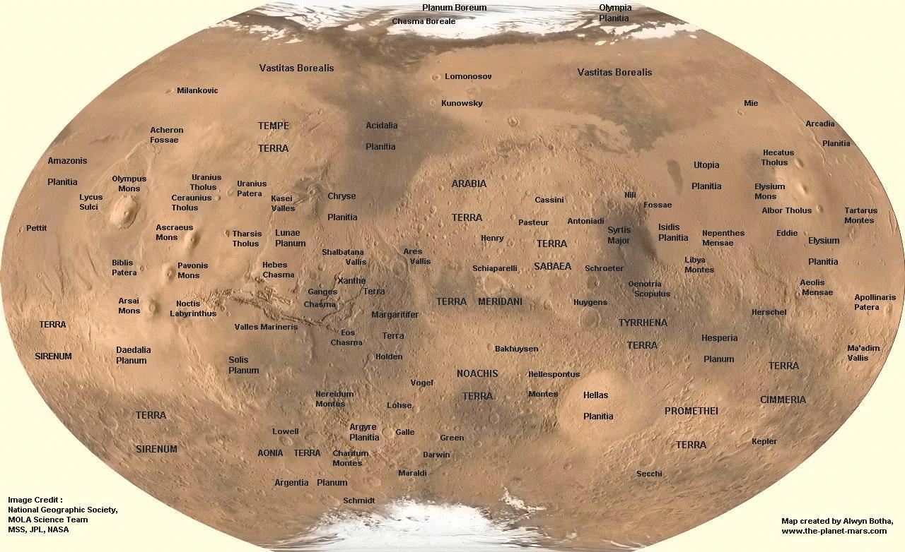 nasa mars maps-#7