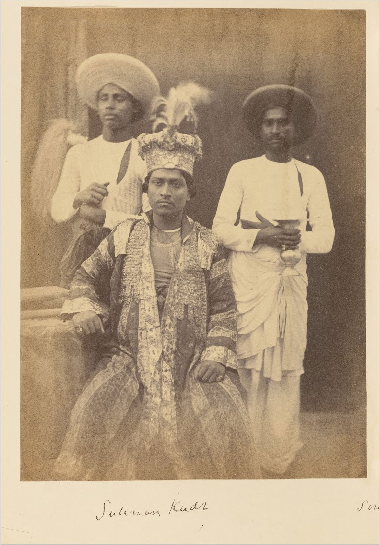 Suliman Kudr, Son of Umjud Ally Shah, and Two Servants - 1850-60's