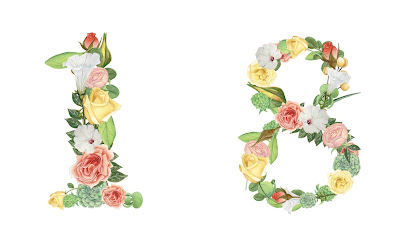 A floral number 18