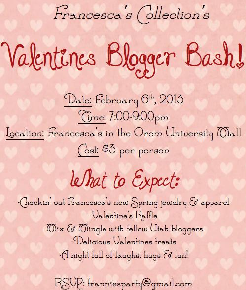 Breezy Days: Francesca's Valentines Blogger Bash!!!
