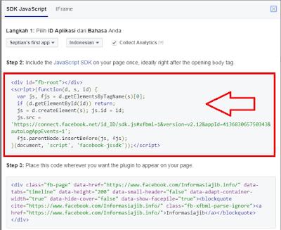 Cara Membuat Widget Facebook Fanpage Untuk Blog