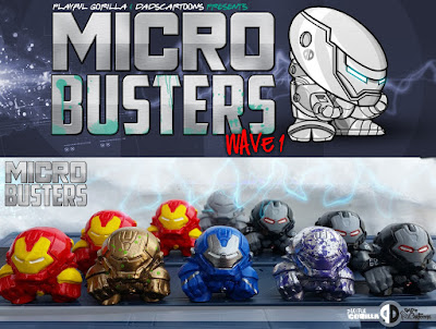 Iron Man MicroBuster Resin Figures by Playful Gorilla and DadsCartoons