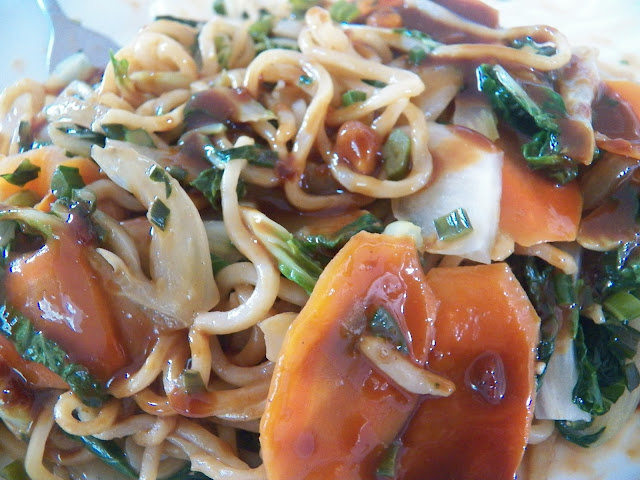 Bok Choy Stir Fry with Yakisoba Noodles