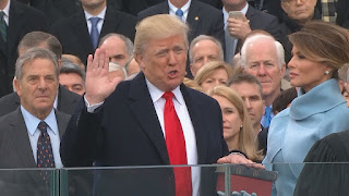 Donald Trump takes the Presidential Oath of Office