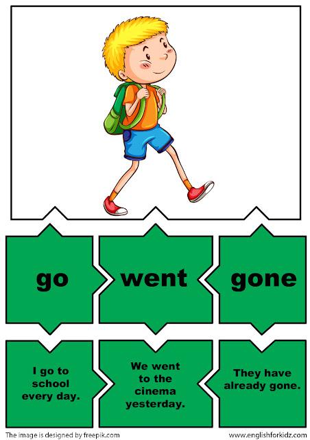 english for esl students irregular verb go