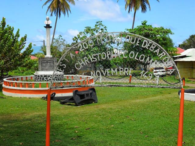 Statue Christophe Colomb à Sainte Marie Capesterre Belle eau Guadeloupe