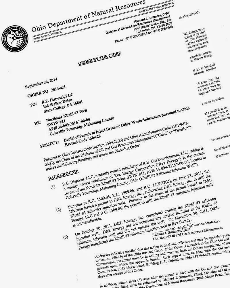 Frackfree Mahoning Valley: ODNR Was Correct to Deny Permit
