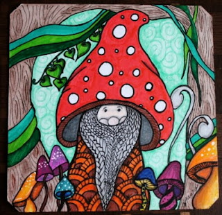 Mushroom Zentangle Forest