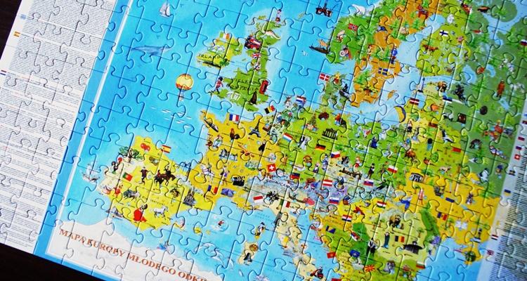 Europa Młodego Odkrywcy puzzle dla dzieci