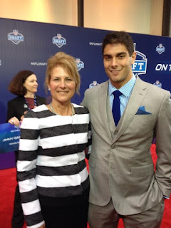 Jimmy Garoppolo With His Mother