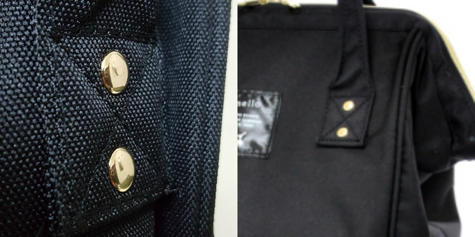 b89fd567b8 BUT! From the pictures on the official site, backpacks have flat rivets as  well: