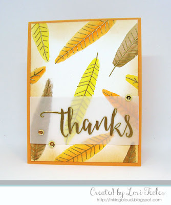Golden Thanks card-designed by Lori Tecler/Inking Aloud-stamps from Concord & 9th