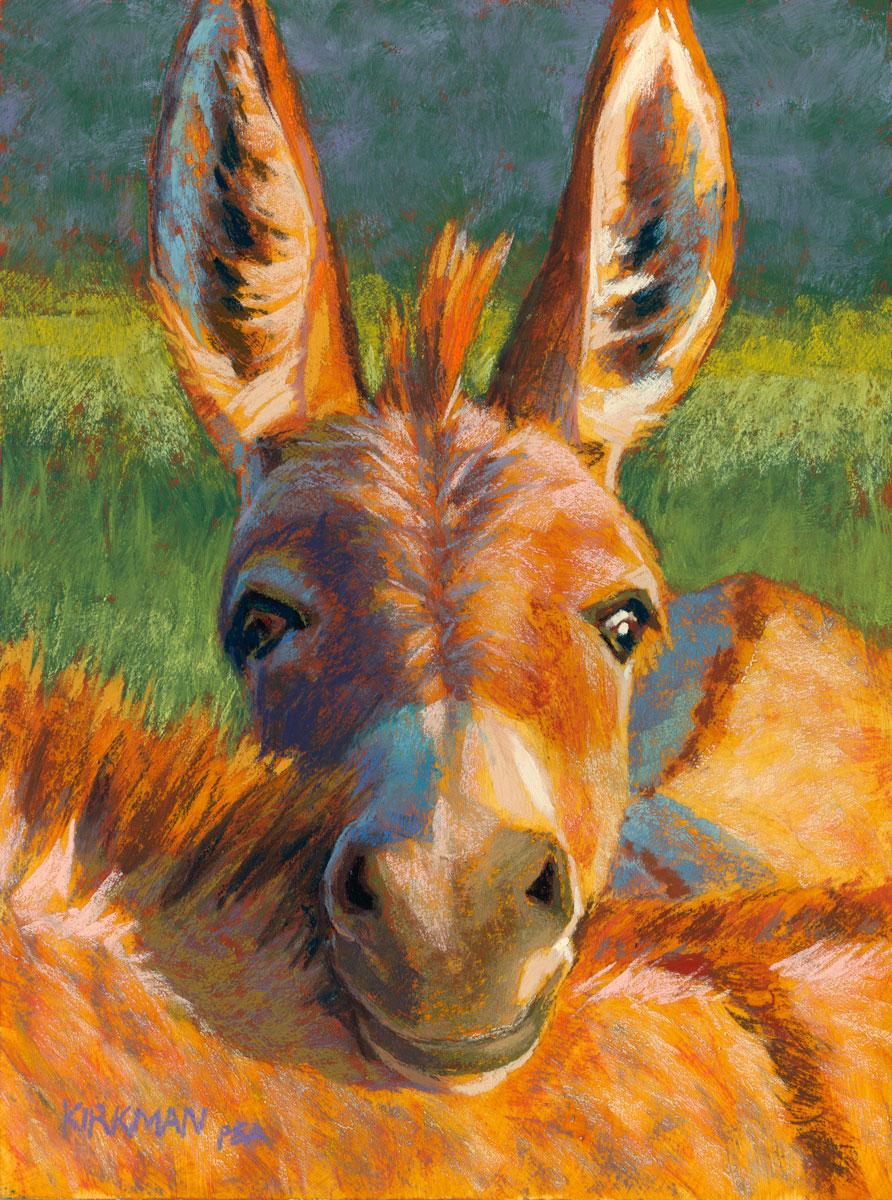rita kirkman s daily paintings peek a burro peek a burro