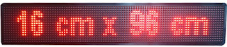 Gambar running text led display