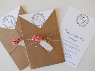 convite de casamento rustico com flores