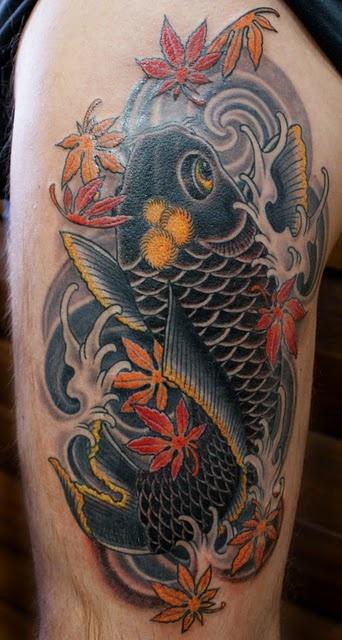 Carpas belagoria la web de los tatuajes for Carpa koi negra