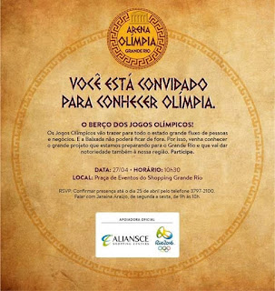 Clima olímpico no Shopping Grande Rio
