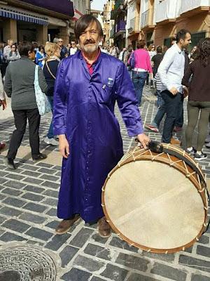 Paco Escudero, bombo, semana santa