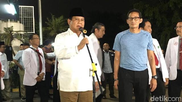 Diteken Prabowo-Sandi, 800 Nama Masuk ke Timses
