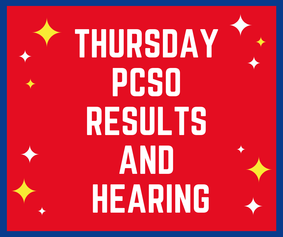 March 28 2019 (11AM, 4PM, 9PM) | PCSO Results and Hearing - Swertres