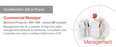 Job in Focus for October: Commercial Manager for Electrical Products in London - £100k OTE