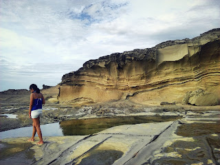 scenic view, rock formations, contemplating, biri island