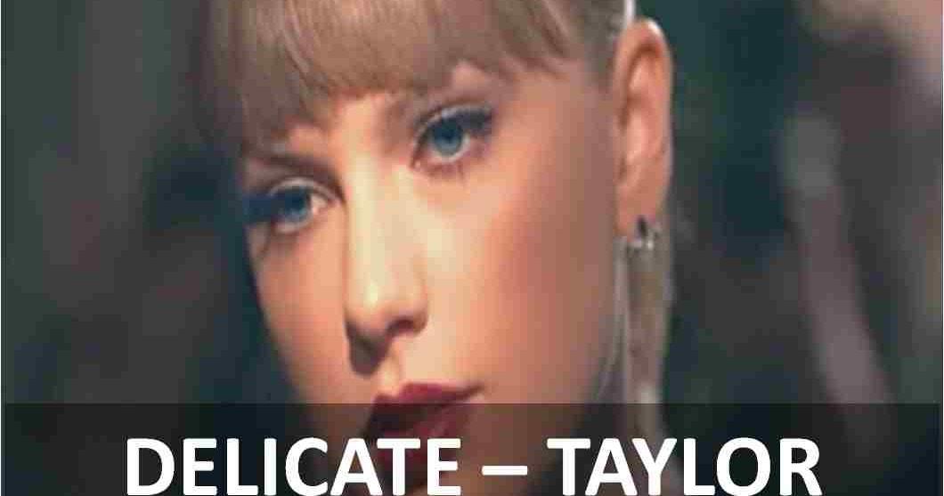 Delicate Taylor Swift Lyrics Any Piano Lesson