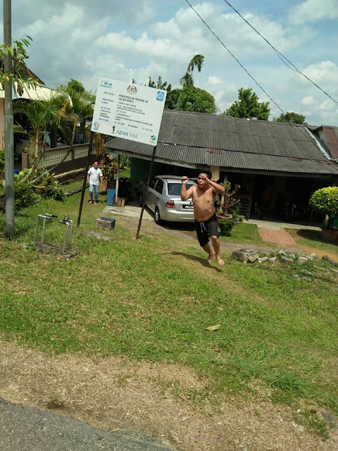 Viral Pendekar Cangkul Serang Petugas SAJ di Kg Melayu Kulai