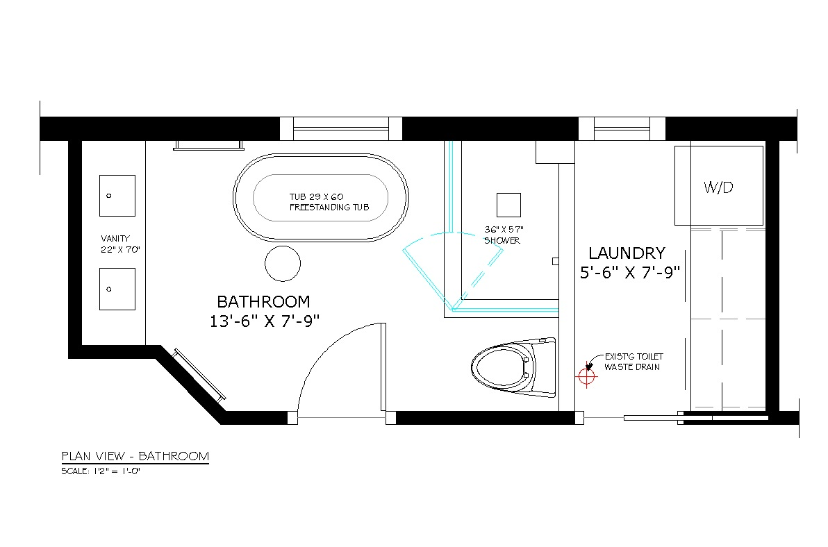Bathroom Floor Plans With Shower Only