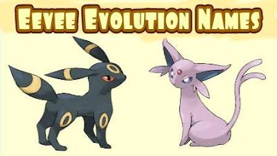 Eevee Evolution Names Pokemon Go