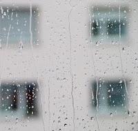yağmurlu gün, cam
