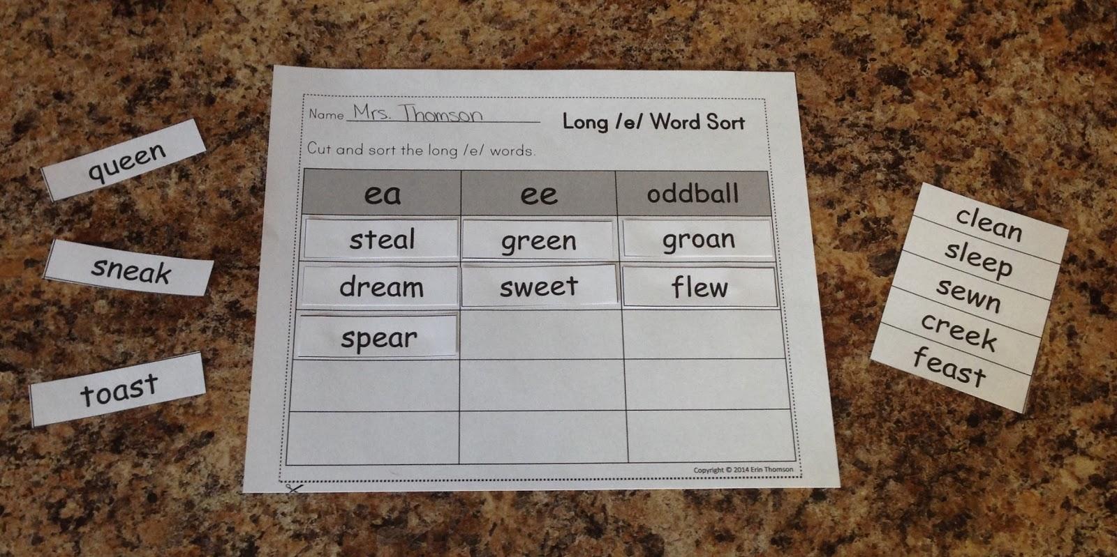 Mrs Thomson S Primary Printables Literacy