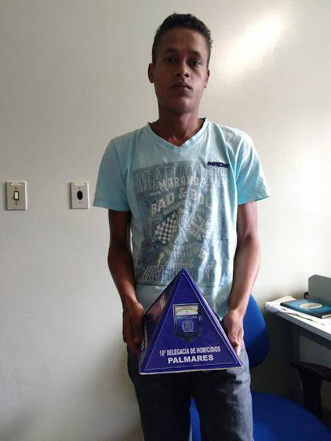 Jovem acusado de latrocínio é preso em Palmares