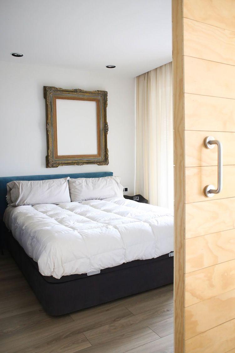 Dormitorio de estilo vintage y boho