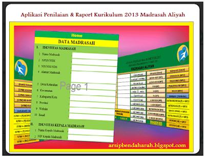 Aplikasi Penilain & Raport Kurikulum 2013 MA (Madrasah Aliyah)