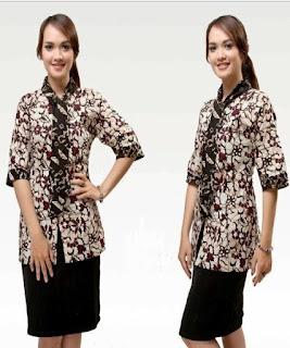 model baju pegawai bank wanita