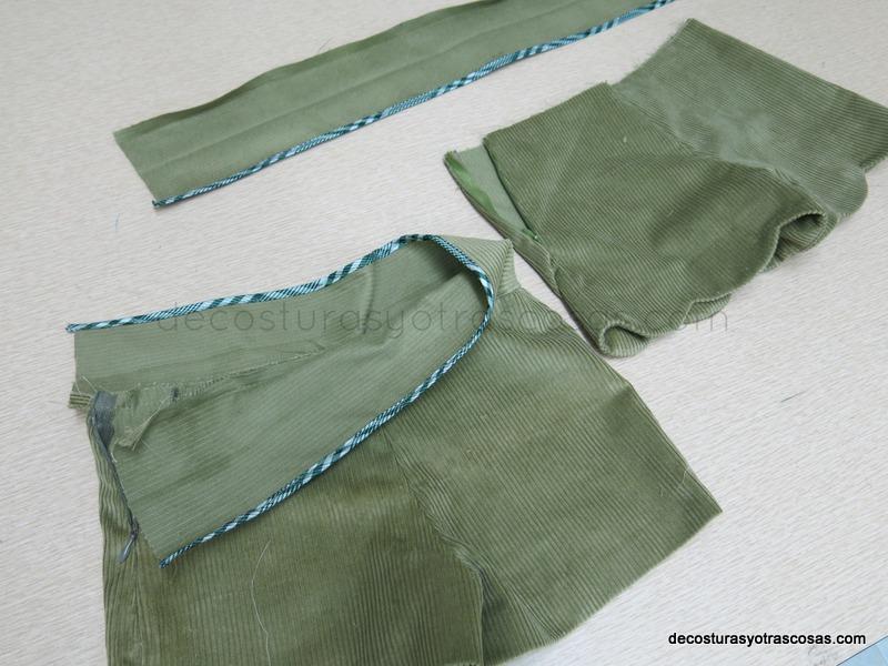 como coser una cinturilla que quede bonita por el revés