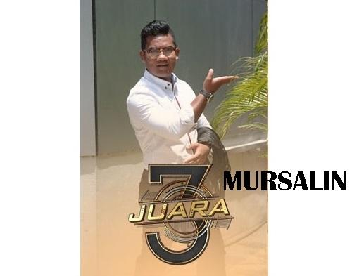 biodata Mursalin peserta 3 Juara TV3, biodata 3 Juara TV3 Mursalin, profile Mursalin 3 Juara TV3 2016, profil dan latar belakang Mursalin 3 Juara genre irama malaysia, gambar Mursalin 3 Juara TV3