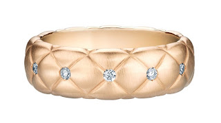 Treillage Diamond Rose Gold Thin Ring