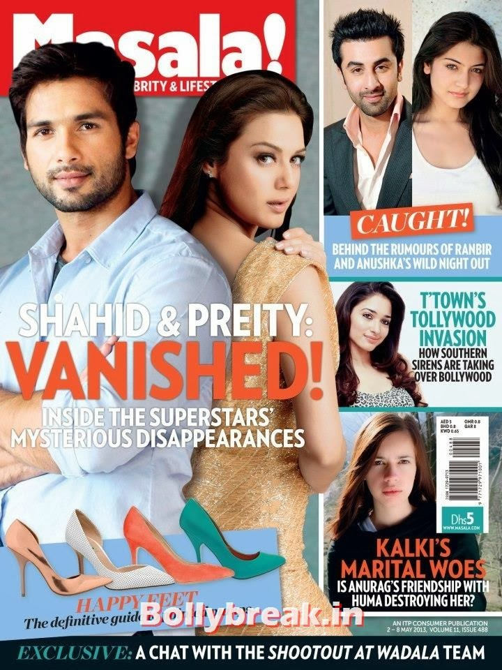 Shahid Kapoor & Preity Zinta, Bollywood Reel & Real Couples on Cover Ahlan Masala Magazine