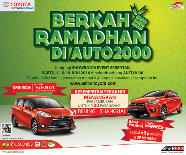 Hadirilah Showroom Event Toyota Berkah Ramadhan 2016