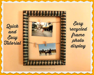 Easy recycled frame photo holder