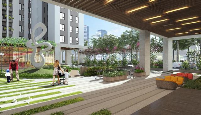 Hơn 60% diện tích tại The K – Park được dùng để phát triển không gian chung.