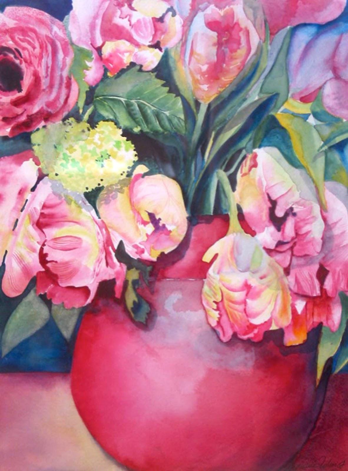 Gartenmalereien: Stiefmütterchen malen