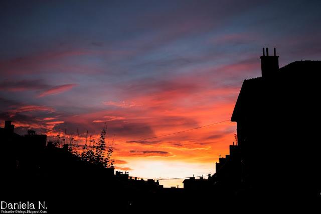 zachód słońca..