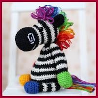 Cebra arco iris a crochet
