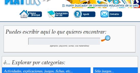PlayTIC - El mayor buscador de contenidos educativos de la web