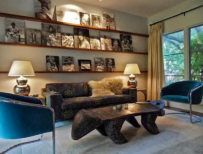 desain ruang tamu dengan gaya vintage